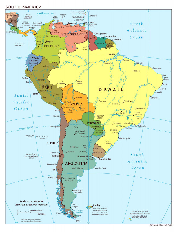 Blank City Map Template New 43 True Unlabeled Map Of south America