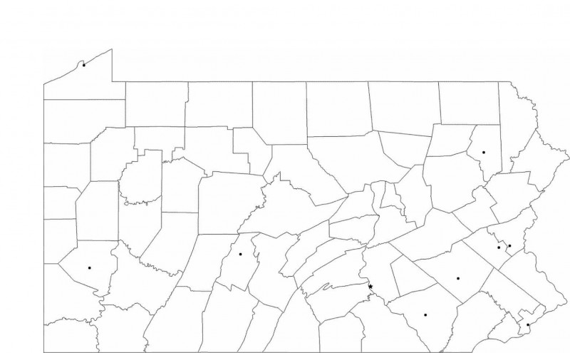 Blank City Map Template Unique Blank Pennsylvania City Map Free Download