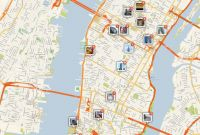 Blank City Map Template Unique New York City Manhattan Printable tourist Map Sygic Travel