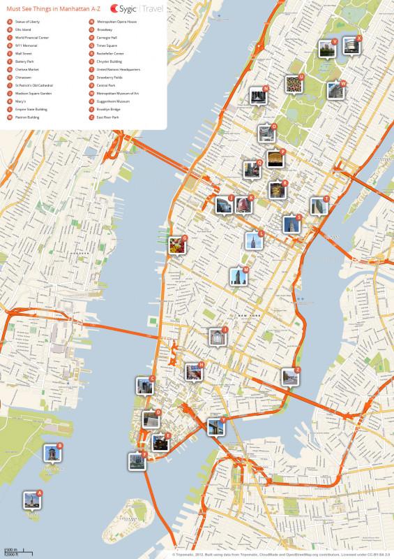 Blank City Map Template Unique New York City Manhattan Printable Tourist Map Sygic Travel