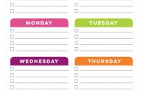 Blank Cleaning Schedule Template New Tcb Printable Cleaning Planner Blank Weekly Cleaning
