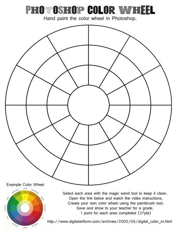 Blank Color Wheel Template Awesome Color Wheel Worksheet Pdf Printable Blank Color Chart