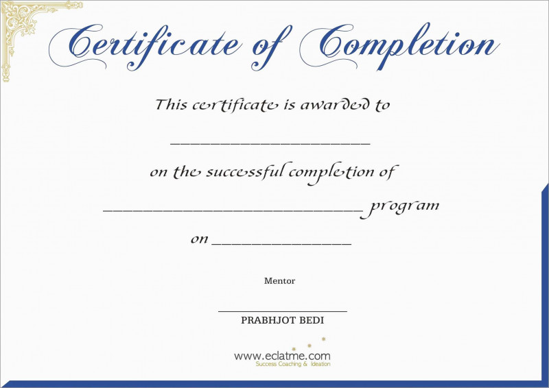 Blank Coupon Template Printable Awesome Free Printable Certificate Of Completion Mult Igry Com