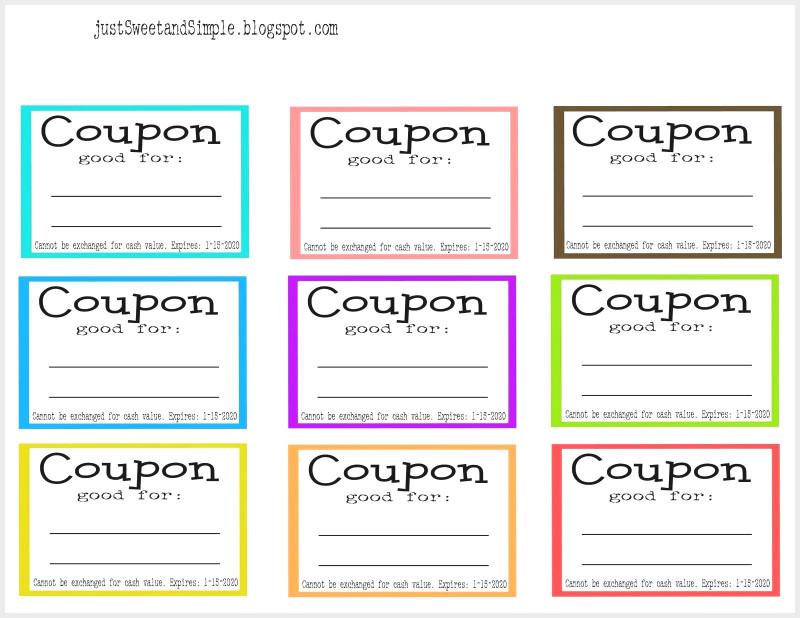 Blank Coupon Template Printable New Free Blank Coupons To Print New Printable Birthday 36
