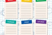 Blank Curriculum Map Template New School Timetable Template A Weekly Curriculum Design Stock