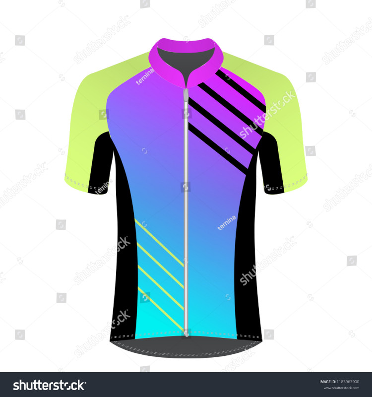Blank Cycling Jersey Template Awesome Cycling Jersey Mockup Tshirt Sport Design Stock Vector