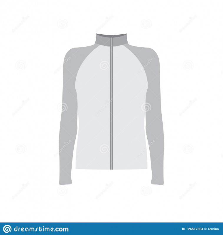 Blank Cycling Jersey Template Awesome Grey Sportswear Mockup Stock Illustration Illustration Of