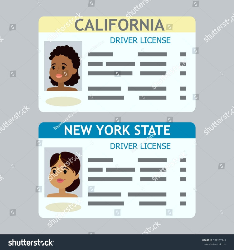 Blank Drivers License Template New License Vector At Getdrawings Com Free For Personal Use