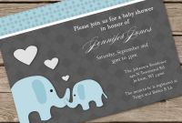Blank Elephant Template Awesome Elephhant Baby Shower Invitation Dolanpedia Invitations