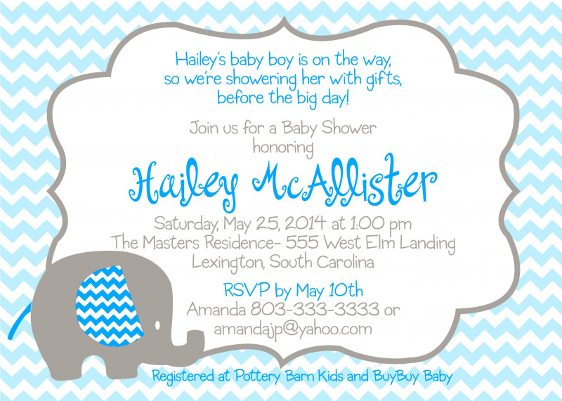 Blank Elephant Template Unique Baby Blue Elephant Baby Shower Invitations Baby Shower Blue