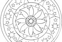 Blank Elephant Template Unique Coloring Pages Mandala Coloring with Stars and Big Flower