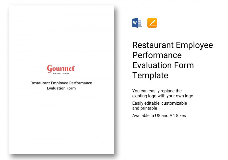 Blank Evaluation Form Template New Restaurant Employee Evaluation Forms Jasonkellyphoto Co