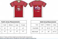 Blank Football Depth Chart Template New 58 Abundant Youth Football Jersey Size Chart