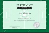 Blank Football Field Template New Certificate Template Football Sport theme Green Field Border