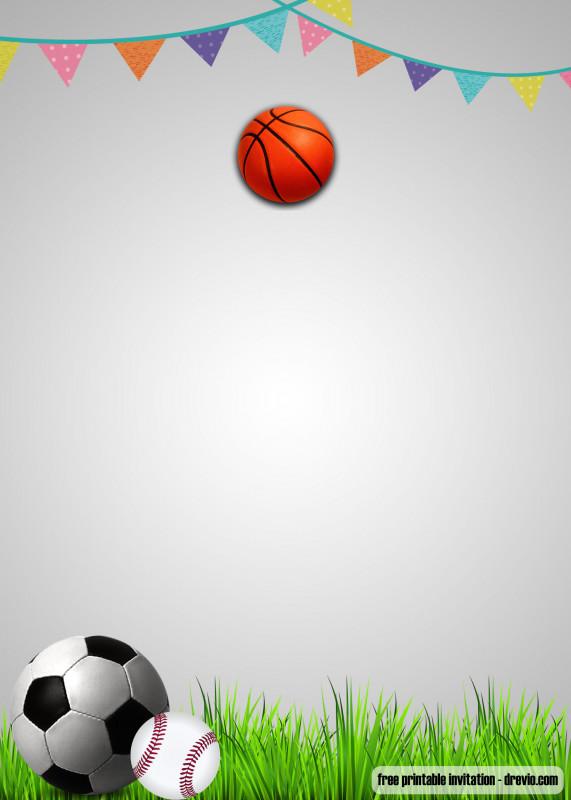 Blank Football Field Template New Free Printable Sports Themed Birthday Invitation Templates