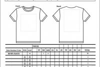 Blank Fundraiser order form Template New Sample order forms top T Shirt form Template Examp