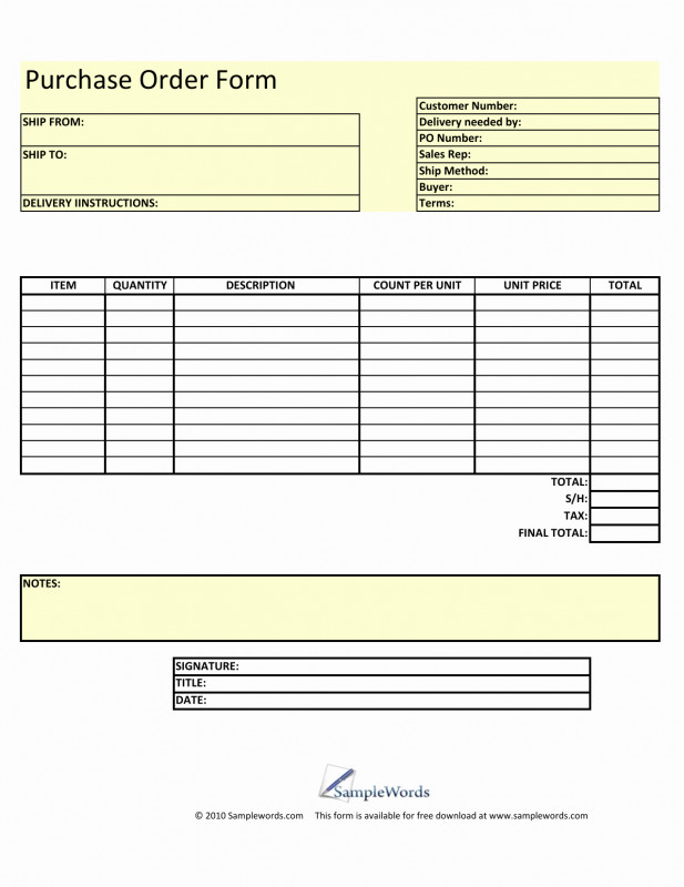 Blank Fundraiser Order Form Template Unique Blank Order Form Template Wilkesworks