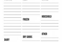 Blank Grocery Shopping List Template New Free Printable Grocery Lists List Template Paper Trail