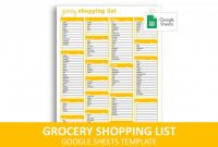 Blank Grocery Shopping List Template New Grocery Shopping List Google Sheets Template Savvy