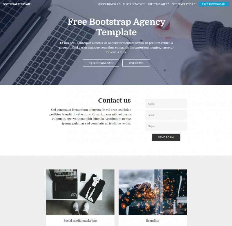 Blank HTML Templates Free Download New 33 Best Free HTML5 Bootstrap Templates 2019