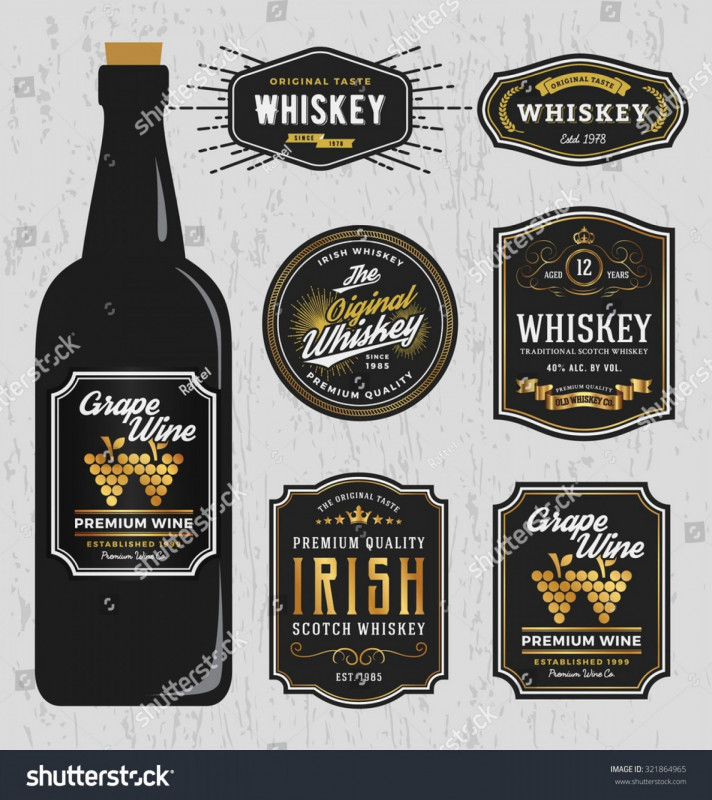 Blank Jack Daniels Label Template Unique Whiskey Bottle Labels Template Free Guide Vintage Premium