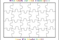 Blank Jigsaw Piece Template Awesome Jigsaw Puzzle Piece Template Printable atelier Kafana Me