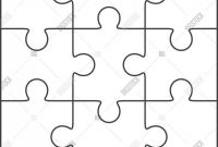 Blank Jigsaw Piece Template New Jigsaw Puzzle Blank Vector Photo Free Trial Bigstock