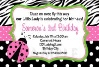 Blank Ladybug Template Unique 12 Ladybug Birthday Invitation Ladybug First Birthday