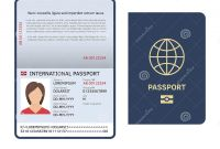 Blank Legal Document Template Awesome Passport Document Id International Paper Passport Page with