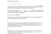Blank Legal Document Template Unique Will and Testment forms Elegant 39 Last Will and Testament