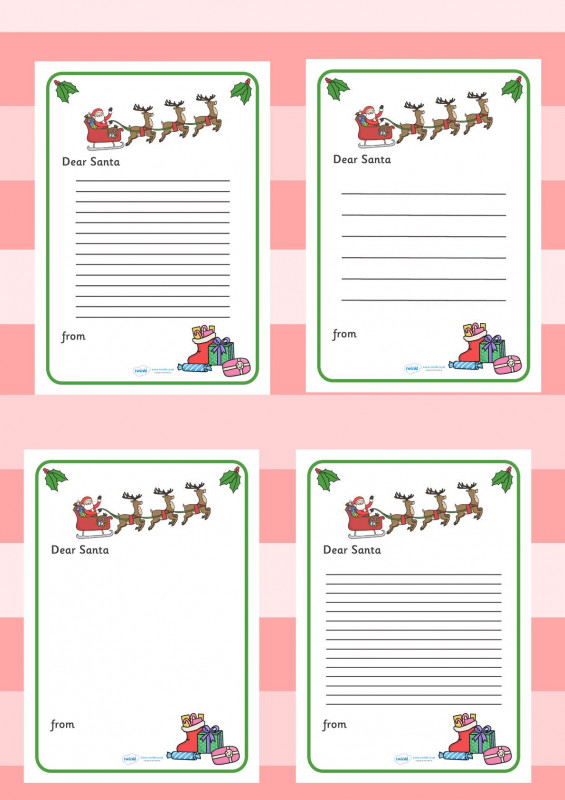 Blank Letter From Santa Template New Twinkl Resources Letter To Santa Printable Resources