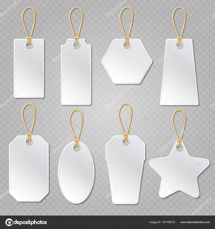 Blank Luggage Tag Template Awesome White Blank Price Tags Labels Vector Template Stock