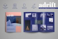 Blank Magazine Spread Template Unique Adrift Magazine Template Magazine Templates Creative