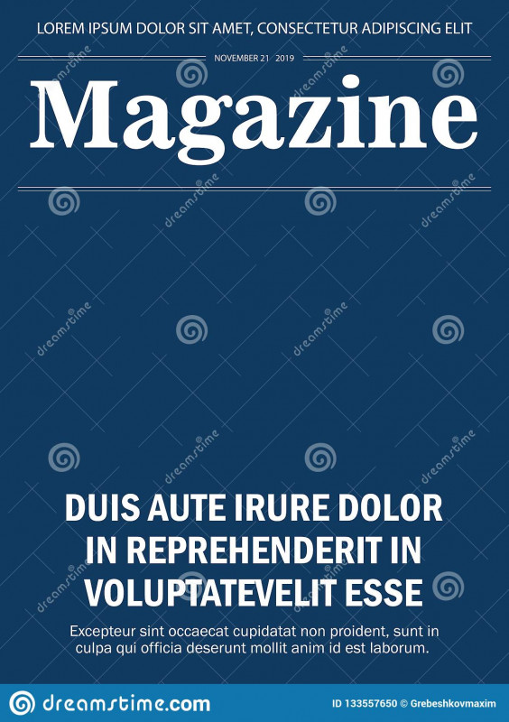 Blank Magazine Spread Template Unique Realistic Magazine Front Page Template Stock Illustration