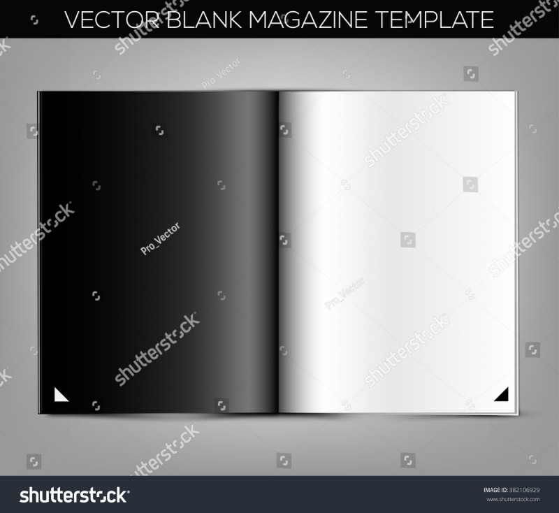 Blank Magazine Template Psd Awesome Blank Magazine Template On Gray Background Stock Vector