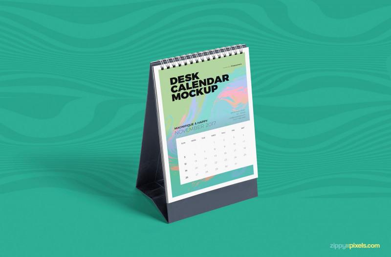 Blank Magazine Template Psd Unique Free Desk Calendar Mockup Psd Creativebooster
