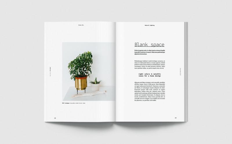 Blank Magazine Template Psd Unique Maximal Minimal Free Magazine Template On Behance