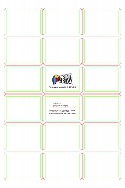 Blank Magic Card Template Awesome Playing Cards Formatting Templates Print Play