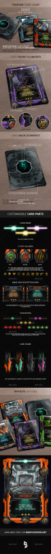 Blank Magic Card Template Awesome Tcg Graphics Designs Templates From Graphicriver