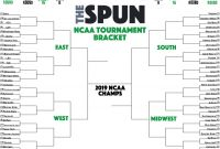 Blank March Madness Bracket Template Awesome March Madness Printable 2019 Ncaa tournament Bracket