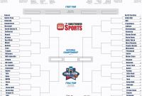 Blank March Madness Bracket Template New 2016 Printable Bracket for March Madness with Teams