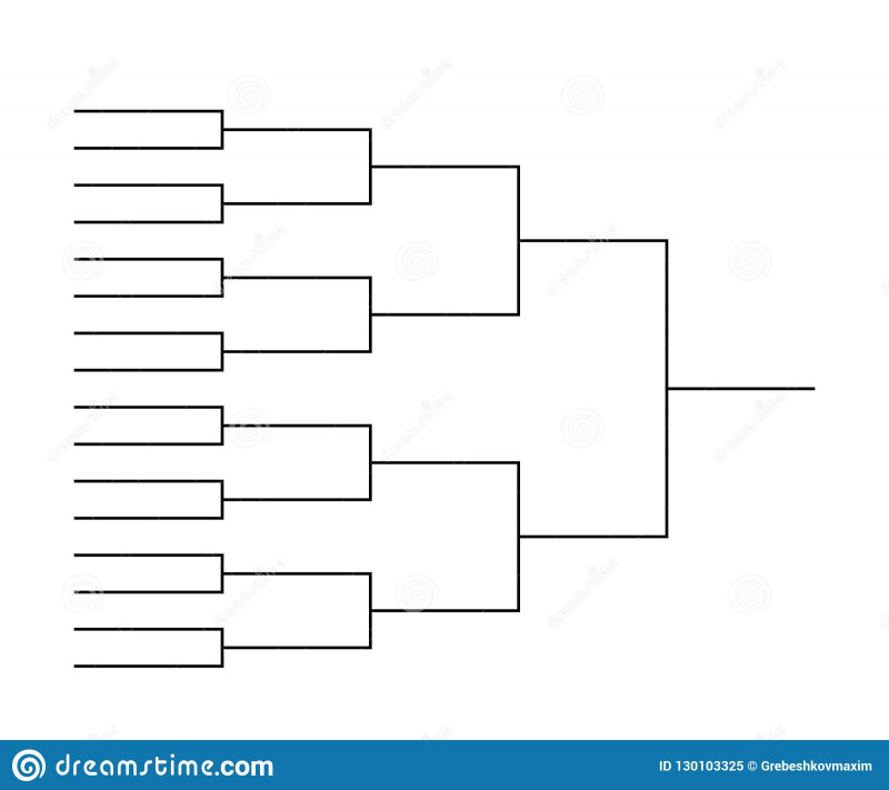 Blank March Madness Bracket Template Unique Tournament Bracket Templates Stock Illustration