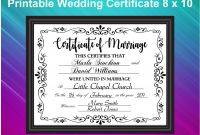 Blank Marriage Certificate Template Awesome Wedding Certificate Printable Marriage Certificate Wedding Gift Marriage Sign Wedding Gift