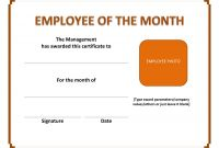 Blank Marriage Certificate Template Unique Employee Of the Month Certificate Template with Picture