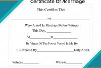 Blank Marriage Certificate Template Unique Free Printable Certificate Of Marriage Template