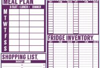Blank Meal Plan Template Awesome Free Printable Set Fridge Pantry Freezer Inventory More