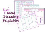 Blank Meal Plan Template Awesome Free Updated Printable Meal Planning Pages Grocery Lists