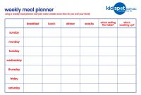 Blank Meal Plan Template Awesome Weekly Family Meal Planner Templates at