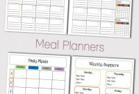 Blank Meal Plan Template New Daily Meal Planner Template New Digital Food Journal Mom
