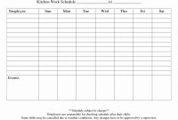 Blank Monthly Work Schedule Template New Blank Monthly Work Schedule Template Luxury Blank Weekly